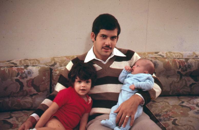 My dad, Enrique Martín-Hidalgo, with my brother Enrique and me.